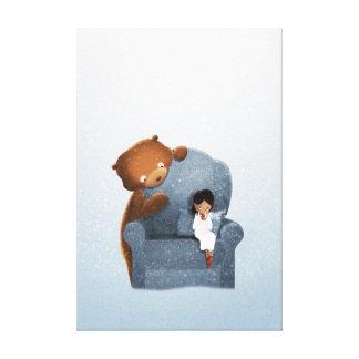 Medio del chocolate que sorbe del arte de la impresión en lienzo estirada
