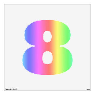 Medio del número ocho de la fusión del arco iris