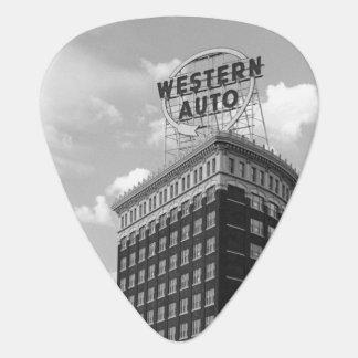 Medio edificio auto occidental del cilindro púa de guitarra