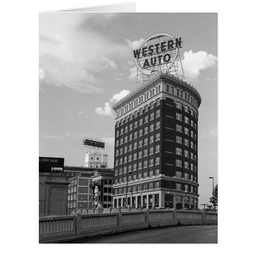 Medio edificio auto occidental del cilindro tarjetas