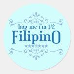 Medio filipino etiqueta redonda