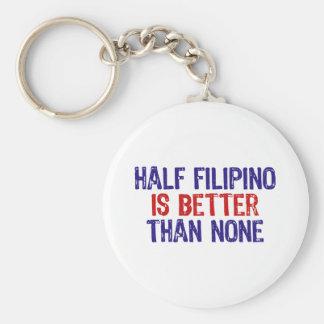 Medio filipino llavero