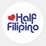 Medio filipino pegatina redonda