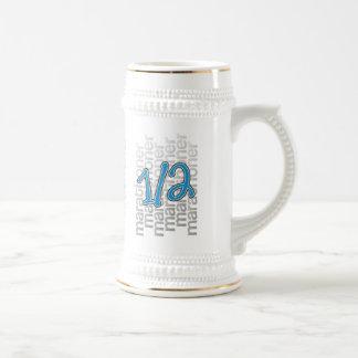 medio funcionamiento del marathoner 13,1 jarra de cerveza