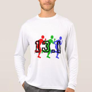 Medio funcionamiento del maratón camiseta
