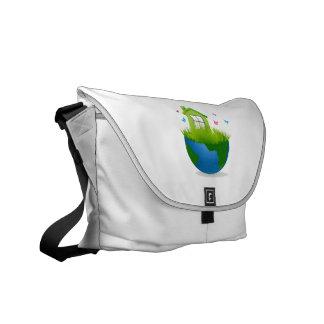 medio globo con el desig del ecolog de la casa ver bolsas de mensajeria