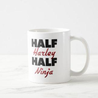 Medio Harley medio Ninja Tazas De Café