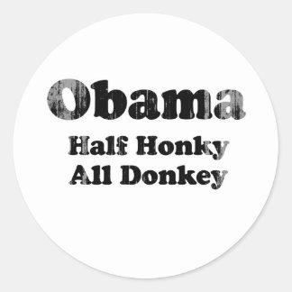 Medio Honky todo el burro Faded.png Pegatina Redonda