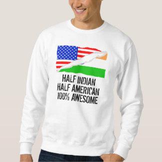 Medio impresionante americano a medias indio sudadera