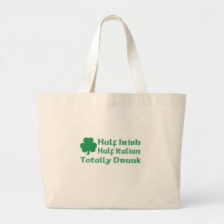 Medio italiano a medias irlandés bebido totalmente bolsa tela grande