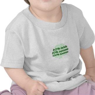Medio japonés a medias irlandés totalmente impresi camiseta