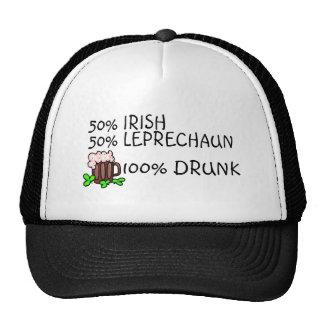Medio Leprechaun a medias irlandés todo borracho Gorro