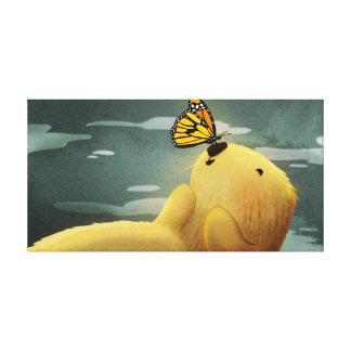 """Medio lindo del """"monarca"""" del arte de la nutria de lienzo envuelto para galerías"""