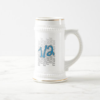 medio marathoner 13,1 jarra de cerveza
