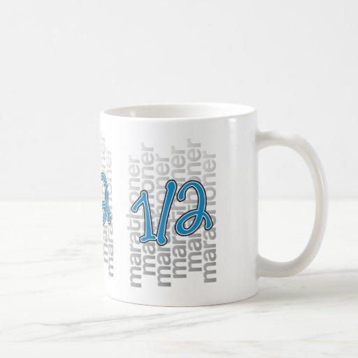 medio marathoner 13,1 taza de café