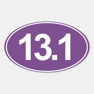 Medio maratón 13,1 millas de pegatina oval