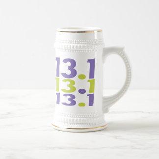 medio maratón 13,1 jarra de cerveza