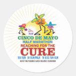 Medio maratón de Cinco de Mayo Etiquetas Redondas