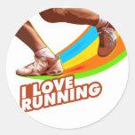 Medio maratón del iGuide corriente Pegatina Redonda