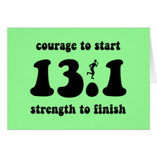 Medio maratón inspirado tarjeta de felicitación