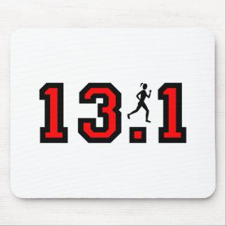 Medio maratón para mujer mouse pads