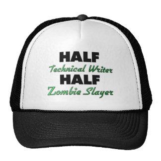 Medio medio asesino del zombi del escritor técnico gorra