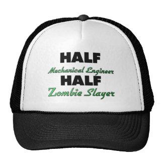 Medio medio asesino del zombi del ingeniero gorras