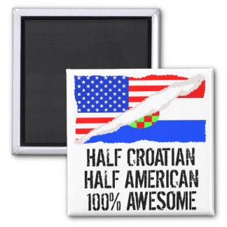 Medio medio impresionante americano croata imán cuadrado