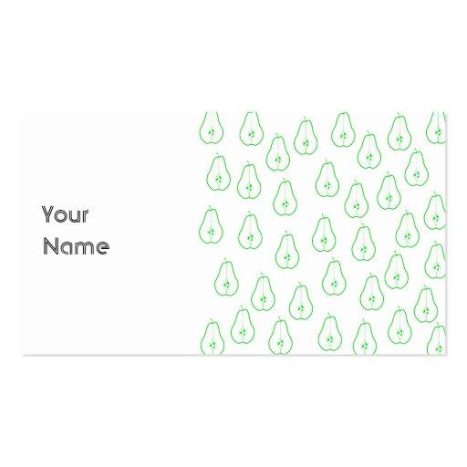 Medio modelo de la pera verde tarjetas de visita