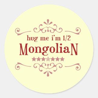 Medio Mongolian Pegatina Redonda
