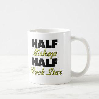 Medio obispo Half de la estrella del rock Taza De Café