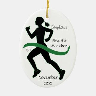 Medio ornamento del corredor de maratón de la ornato