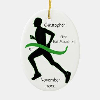 Medio ornamento del corredor de maratón del hombre adorno de navidad