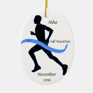Medio ornamento del corredor de maratón - hombre ornaments para arbol de navidad