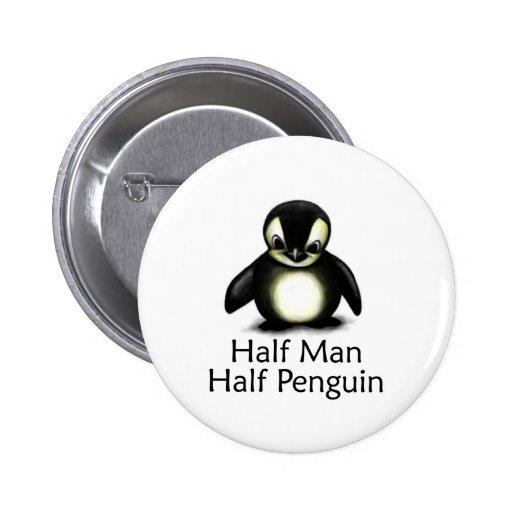 Medio pingüino del medio hombre