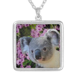 Medio plateado plata del collar de la koala