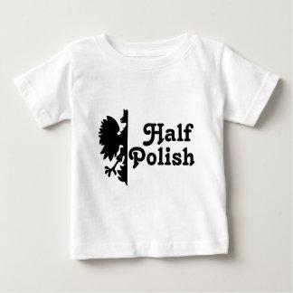 Medio polaco playera de bebé