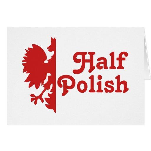 Medio polaco tarjeta de felicitación