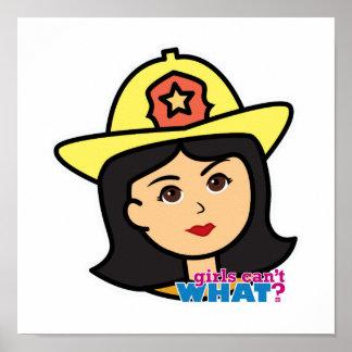 Medio principal del bombero poster