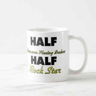 Medio seguro que coloca a la media estrella del taza básica blanca