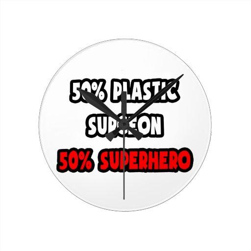 Medio super héroe del cirujano plástico… a medias reloj