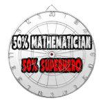 Medio super héroe del matemático… a medias tabla dardos