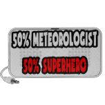 Medio super héroe del meteorólogo… a medias altavoces de viajar
