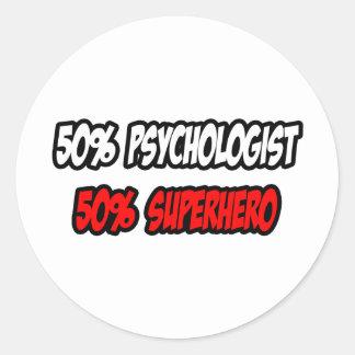 Medio super héroe del psicólogo… a medias etiquetas redondas