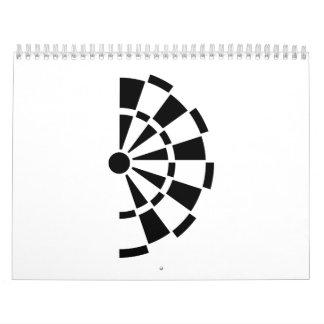 Medio tablero de dardos calendarios de pared
