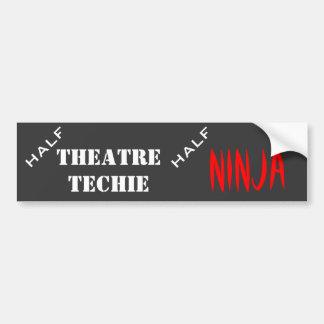 Medio techie, medio ninja pegatina de parachoque