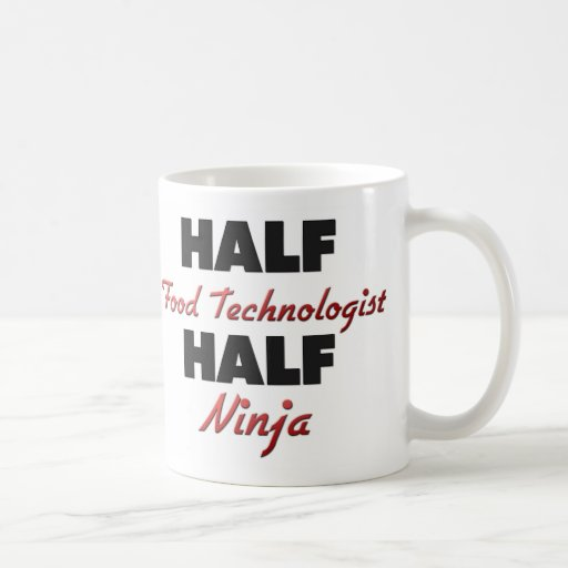 Medio tecnólogo medio Ninja de la comida Tazas De Café