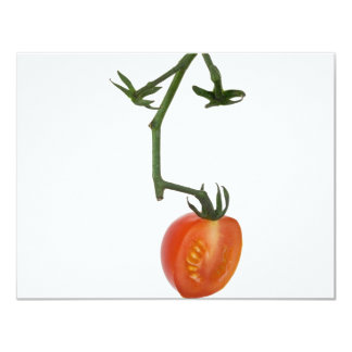 """Medio tomate de la vid invitación 4.25"""" x 5.5"""""""