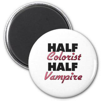 Medio vampiro del medio Colorist Imán Redondo 5 Cm