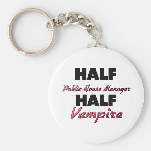 Medio vampiro del medio encargado del bar llavero personalizado